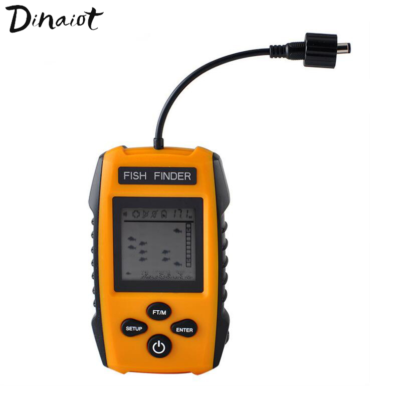 Sonar Detector Fish Finder Sensor Alarm Can Detect Grass Sand Rocks On Seabed With Cable