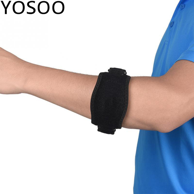 7dda3491f1 2 Colors Adults Elbow Support Brace Protector Pad Guard Strap for Outdoor  Sports