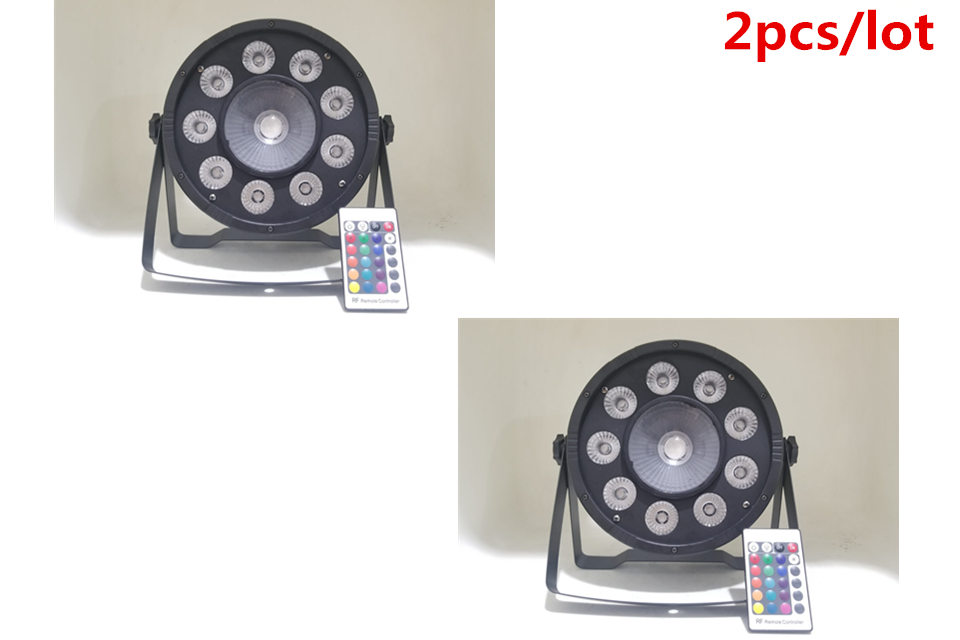 2pcs Wireless Remote Control LED 9x10 W +30W RGB 3in1 LED Par Light Wash Step Uplighting No Noise Remote Control Stage Light ...