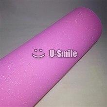 High Quality Pink Glitter Sandy Sparkle Vinyl Film Foil Bubble Free Phone Laptop Ipad Sticker Size:1.52*30M