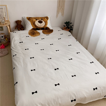 Luxury Egypt Cotton 3D Hug bear Cartoon Bedding Set For Kids digital printing Duvet Cover Sets Bed Sheet Twin Queen Size 4pcs