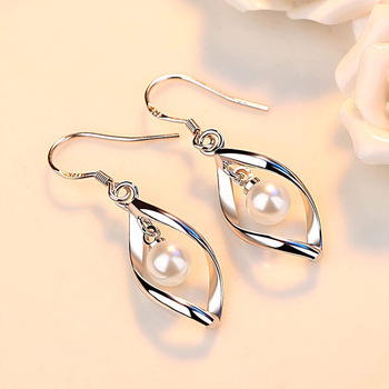 Fashion Elegant 925 Sterling Silver Pearl Earrings for Women Ladies High Quality Bridal Wedding Party Dangle.jpg 350x350 - Fashion Elegant 925 Sterling Silver Pearl Earrings for Women Ladies High Quality Bridal Wedding Party Dangle Earrings Jewelry