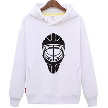 Fajne hokej na lodzie darmowa wysyłka tanie młodzieżowe białe hokej na lodzie bluza z kapturem z hokeja na lodzie wzór maski tanie i dobre opinie Chłopcy Flexible Pasuje mniejszy niż zwykle proszę sprawdzić ten sklep jest dobór informacji cool hockey