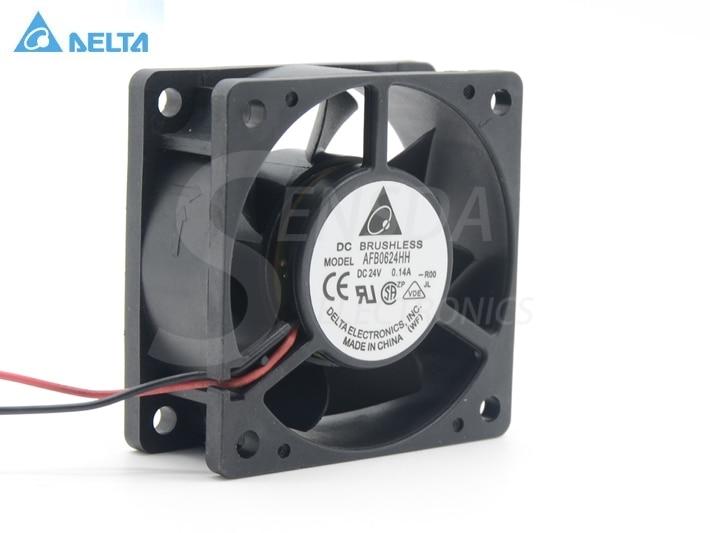 Delta AFB0624HH 6cm 60mm 6025 DC 24V 0.14A 2 pin axial Server Inverter Cooling fans