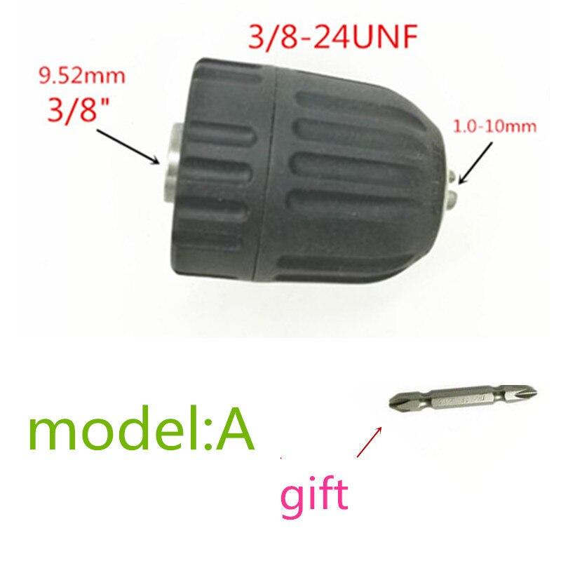 """13mm 1//2/"""" x 20 UNF Mount Keyless Drill Chuck For Bosch Makita Drills Tool Black"""