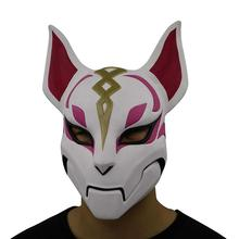 Game Battle Royale Fox Kitsune Cosplay Drift Masks 100% Latex Mask Full Face Helmet Halloween Costume Party Masquerade Props цена и фото
