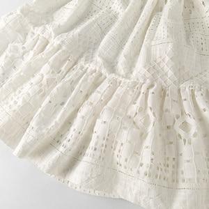 Image 5 - 8 16 세 십대 소녀 여름 흰 레이스 긴 드레스 우아한 공주 가운 2018 새로운 파티 옷 아이 드레스 큰 여자