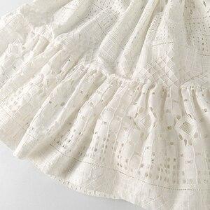 Image 5 - 8 16 yrs נערות קיץ לבן תחרה ארוך שמלה אלגנטית נסיכת שמלת 2018 חדש מסיבת בגדי ילדים שמלות עבור גדול בנות
