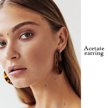 Lovely Resin Hoop Earrings For Women