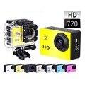 Goldfox sj4000 esporte cam à prova d' água esportes dv filmadoras mini 720 p hd câmera do Capacete Da Bicicleta Cam Carro com Caixa de Varejo Monopé cartão sd