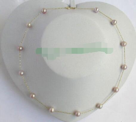 "17"" 11mm natural white freshwater pearls necklace magnet clasp j9782"