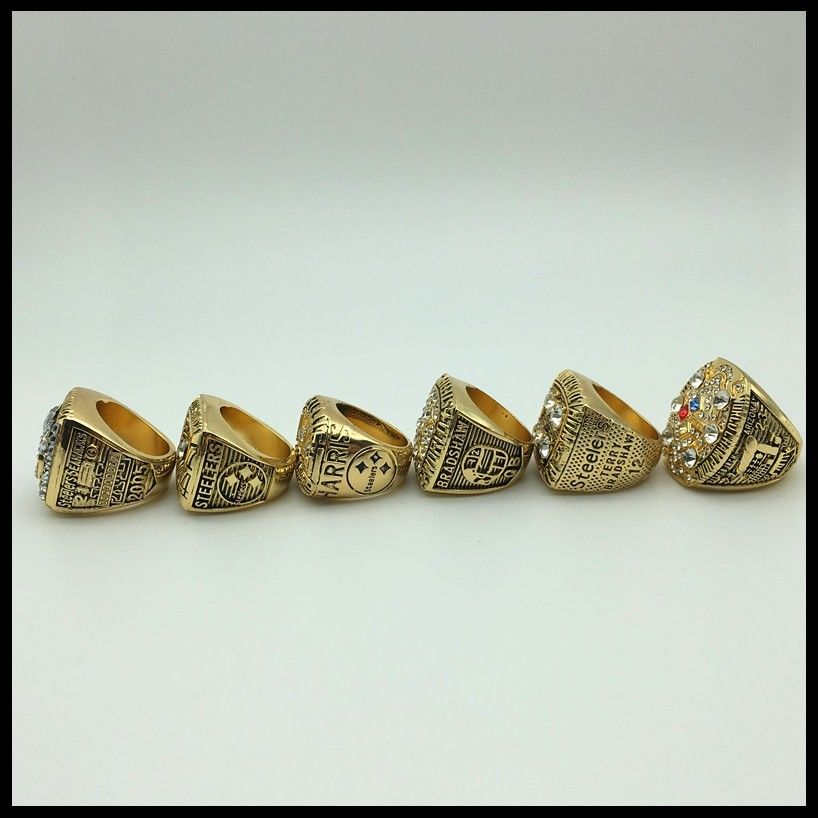 1975 Pittsburgh Steelers Ring Super Bowl NFL Meisterschaft Ringe Gold Silber Neu