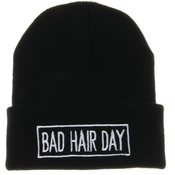Fashion BAD HAIR DAY Cap Men Casual Hip-Hop Hats Knitted Wool Skullies Beanie Warm Winter Hat for Women RX108 2016 winter brand new colorful snow caps wool knitted beanie hat for women men hip hop cap skullies