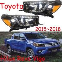 2 шт. стайлинга автомобилей Фара для Toyota Hilux фары автомобиля 2015 ~ 2018 Hilux Revo Vigo DRL Bi Xenon hi lo луч парковка