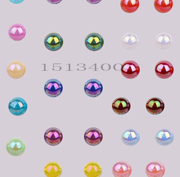 Шт. 10 мм 130 шт. AB цвета, ABS полукруглые бусины из искусственного жемчуга, жемчуг круглый для ремесел, DIY ремесла украшения ногтей