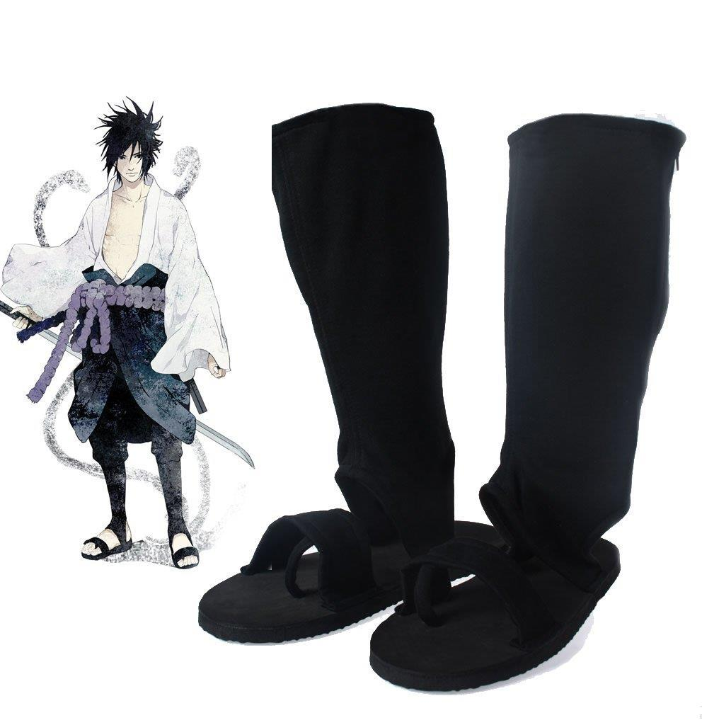 JP Anime Naruto Ninja Shoes Naruto Cosplay accessories Uchiha Sasuke Orochimaru Type Black Cosplay Shoes