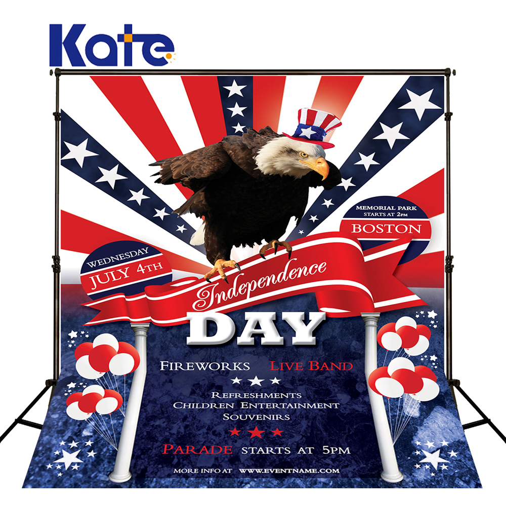 150Cmx200Cm (5Ftx6.5Ft) 케이트 사진 배경 두꺼운 천으로 미국 국기 독립 기념일 복고풍 패턴 배경 Dlr-1