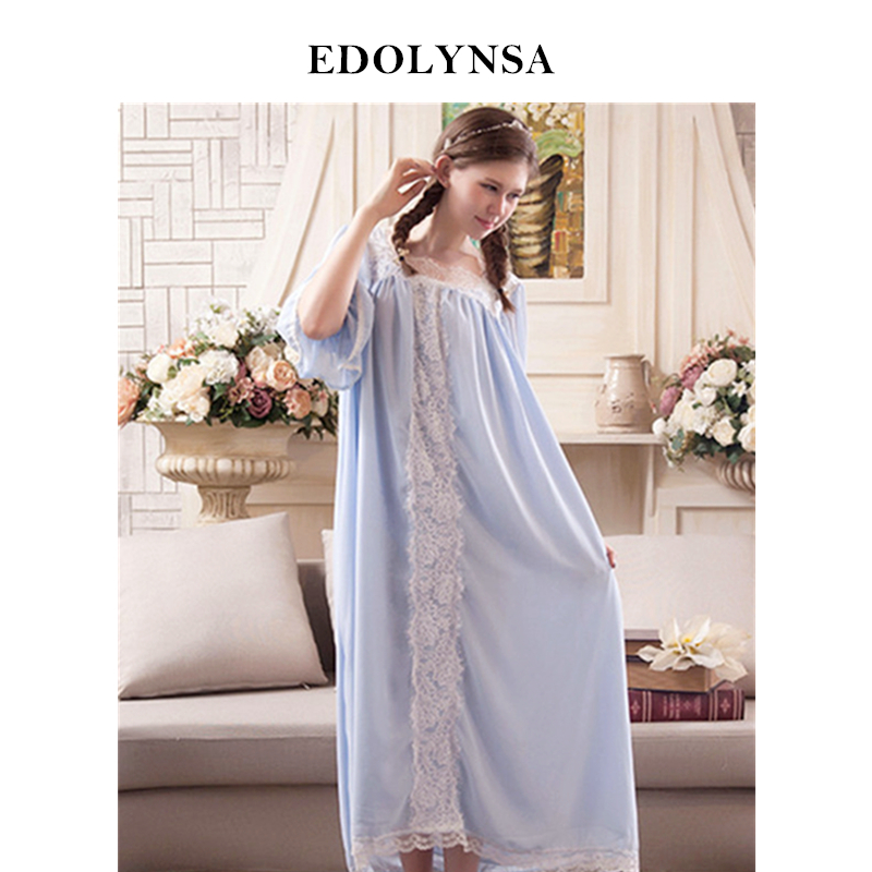 Detail Feedback Questions about New Arrival Vintage Nightgowns Sleepshirts Elegant  Lady Dresses Princess Sleepwear Lace Home Dress Soft Sleep   Lounge  H188  ... 6ed233a9b