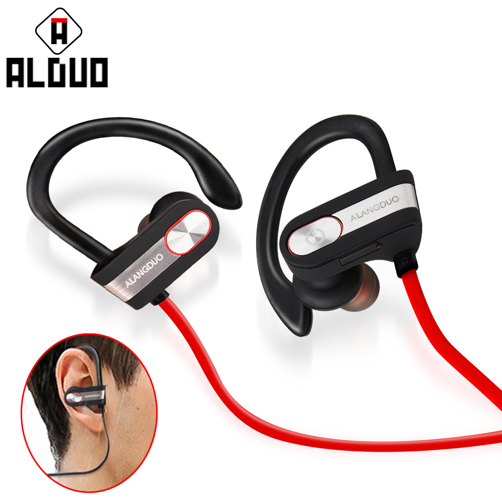 ALANGDUO <font><b>bluetooth</b></font> headphones IPX6 waterproof <font><b>wireless</b></font> headphone sports bass <font><b>bluetooth</b></font> <font><b>earphone</b></font> with mic for phone iPhone xiaomi