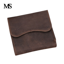 MS Crazy horse wallet vintage Men s leather Wallet man wallet leather with coin pocket genuine