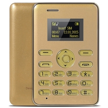 Original AIEK Q3 1.0 Inch Card Phone BT FM MP3 Playback Audio Player Calender Alarm Calculator TF / micro SD card Cellphone