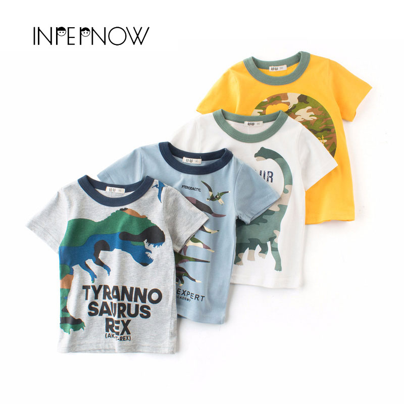 8a0e9296 INPEPNOW T Shirt For Boys Kids Dinosaur tshirt Jurassic Baby Girls T Shirt  Animal Print Children Clothing Top camisetas DX CZX32-in T-Shirts from  Mother ...
