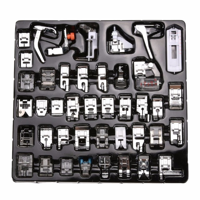 42pcs Domestic Sewing Machine Braiding Blind Stitch Darning Presser Foot Feet Kit Set For Brother Singer Janome
