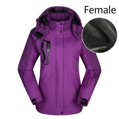 Hiver stormline hommes et femmes ajouter polaire épaississement extérieur manteau coupe-vent et imperméable grande taille alpinisme veste de ski - 2