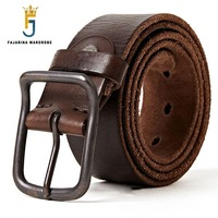 FAJARINA Top Quality 100 Pure Genuine Leather Pin Buckle Belts Cow Skin Men S Retro Styles