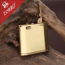 Zorro Gasoline Lighter Brass Material  Oil Petrol Refillable Cigarett For Smoking Flint Fire