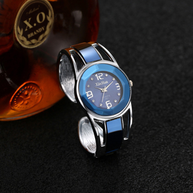 Womens Watch Luxury Fashion Rose Gold Bangle Bracelet Watch Women Dress Clock Female Lady Saati Girls Wristwatch Relojes 30Q