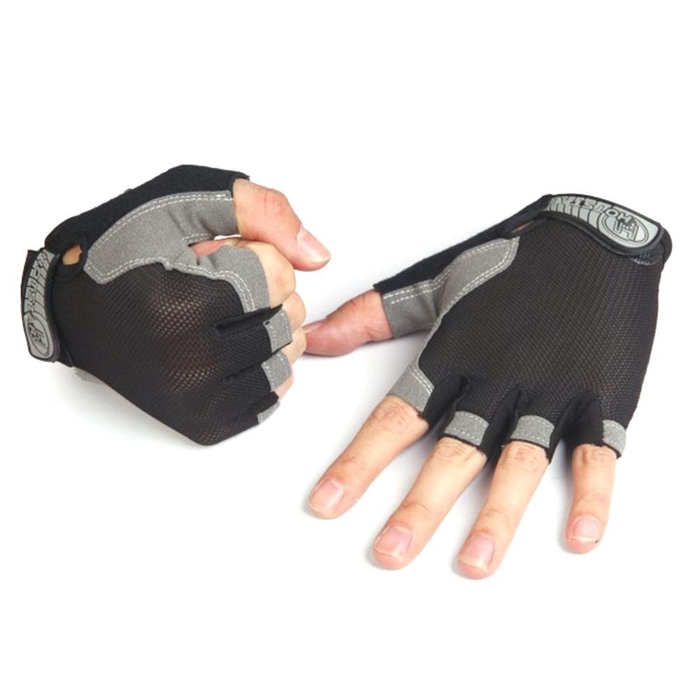 Купить с кэшбэком Summer Style High Elastic Breathable Mesh Half-fingered Outdoor Sports Cycling Gloves Riding Gloves Wear-resisting Non-slip