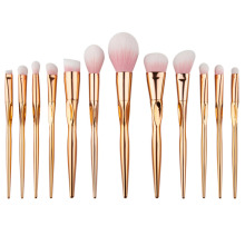 Hot Makeup Brushes Set Rosegold Hearts Shaped Pro Foundation Powder Blush Eye Shadow Brushes Kits Contour Eyebrow make up Brush