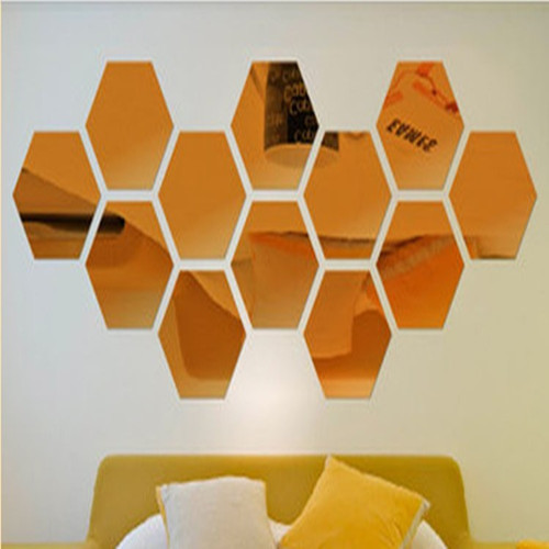 New On Sale Diy Wall Decor For Living Room Or Bed Hexagon Pattern Creative Gifts