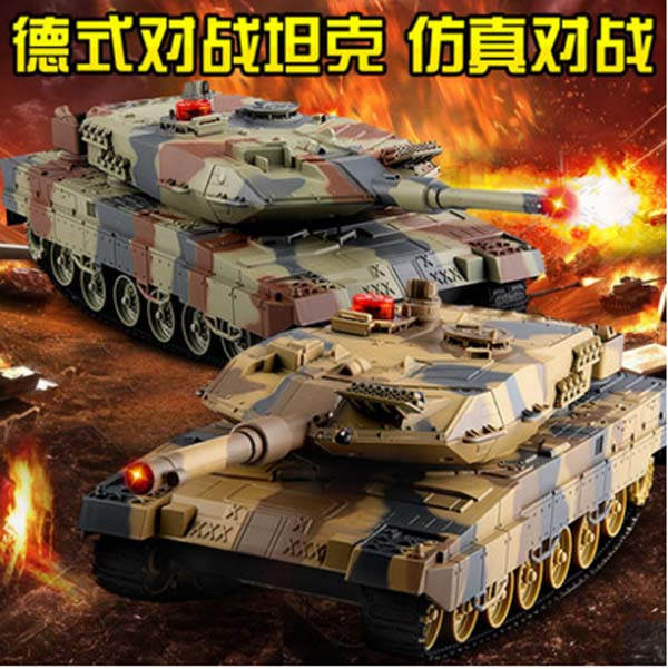 HUANQI 558 29cm Simulation RC Tank 2pcs Remote Control Battle Auto Demonstration with Fighting Red Infrared Tay Electric Toy infrared remote control simulation brazil turtle toy animal model