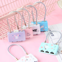 Mini Cartoon Padlocks Zipper Bag Backpack Handbag Drawer Cabinet Key Lock With key Luggage lock