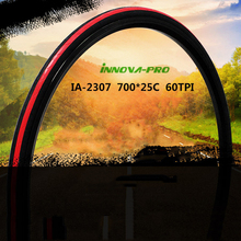лучшая цена Road bike tires anti puncture ultralight 233g cycling folding fix tyres 700*25C colored Cycling Bicycle Tires INNOVA IA-2307