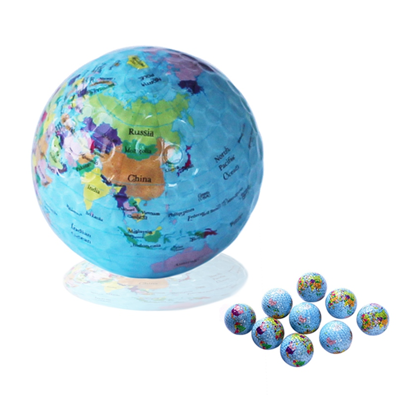 Globe Map Golf Balls Novelty Practice Golf Balls For Kids Men Woman Christmas Birthday Gift Colorful Children Pet Toys