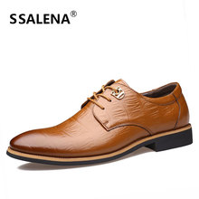 2018 Leather Casual Men Shoes Fashion Men Pointed Toe Formal Dress Shoes Comfortable Office Oxford Loafers For Male AA50136