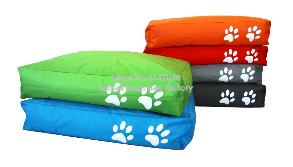 Two Paw Printed Bean Bag Dog Beds Extra Large Pet