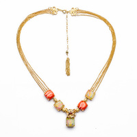 Necklaces New Arrival 2014 Factory Wholesale Pendants Women Blue Yellow Jewelry Gift Necklace