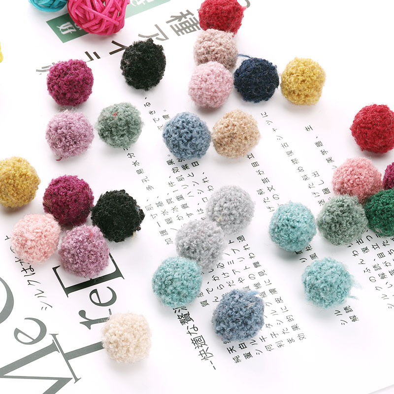 100Pcs Color Teddy Pom Pom Plush Balls Wedding Party Decor Fluffy Pompom Kids Hair Accessories DIY Scrapbook Toys Craft Supplies(China)