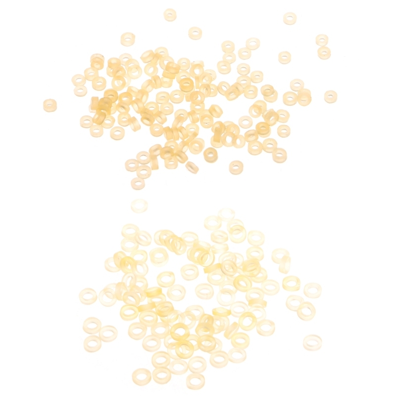 100 Stück Angeln Gummi Pellet Gummibänder für Köder 5mm Köder Bänder