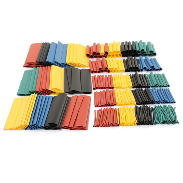 328pcs/set 5Color 8Sizes Assorted Polyolefin 2:1 Heat Shrink Tubing Tube Wrap Sleeving Electrical Insulation Wire Cable Kit