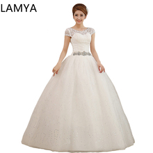 Pregnant Dress Weding Crystal Sashes IvoryTulle Bride Gown Floor Length Marriage Lace Up Back Customized robe grosse