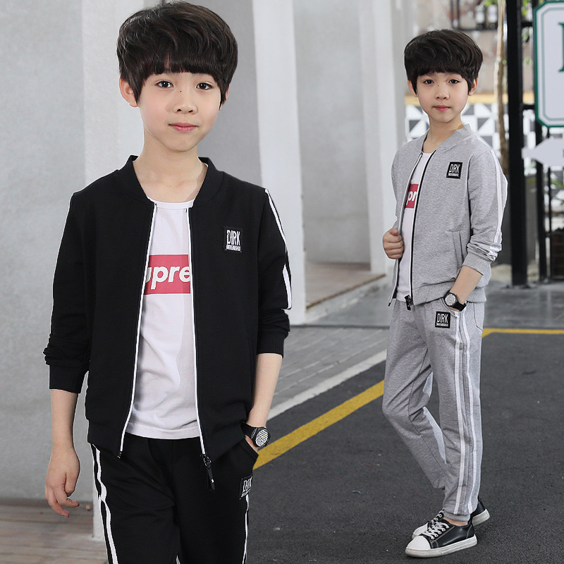 Baby Boys Clothes Clothes Set Toddler Kids Tracksuit Autumn Spring Teenager Boy Sports Clothing Suit Zipper Jacket+Pants 2pcs