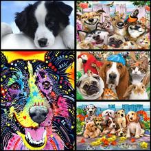 full Diamond Embroidery dog family Diy Diamond Painting cross stitch Diamond Mosaic Home Decoration Paintings