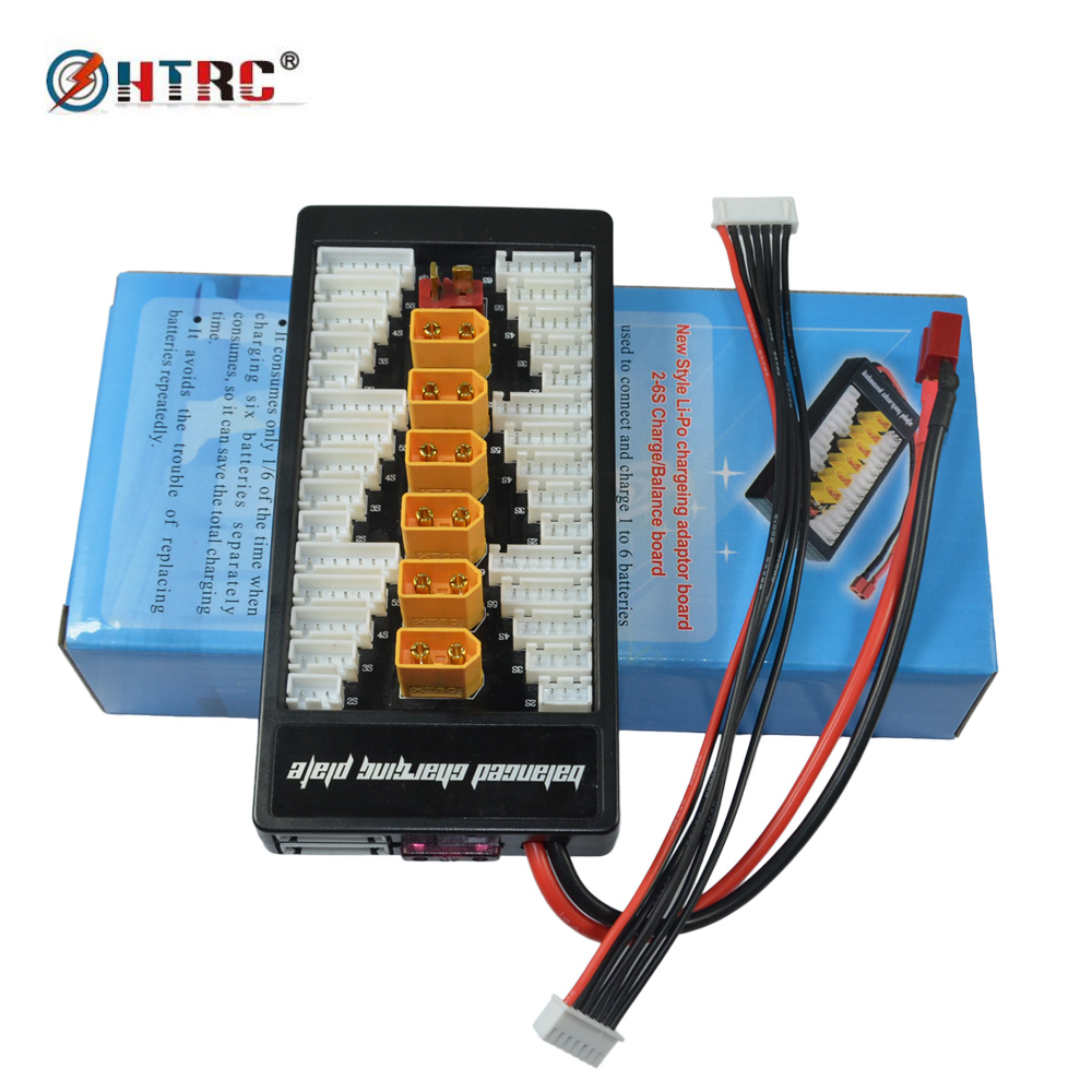 XT60 Parallel Charging Adapter Board 2-6s Lipo batteries Charger Plate for Imax B6 B6AC