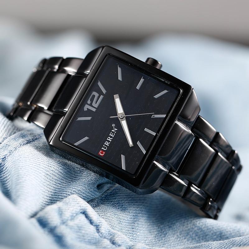 CURREN Men Quartz New Fashion Sports Watches Man Quartz Analog Man Business Quality All Steel Watch 3 Bar Waterproof
