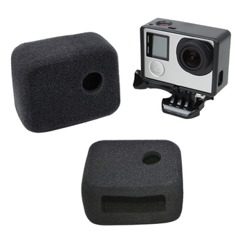 цена на Sponge Windshield  Cover Frame For Gopro Hero 4 3 Windslayer Foam Windscreen Wind Cap For Go Pro Hero4 Action Camera Accessories